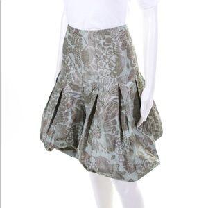 🆕. AKRIS Silk Blend Floral Pleated Bubble Skirt